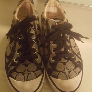 Black and White Womens Size 7 Coach Shoes